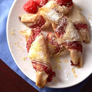 Raspberry Strudel Croissants