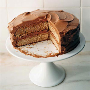 Cinnamon Cake with Chile-Chocolate Buttercream