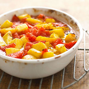 Warm Citrus Fruit with Brown Sugar