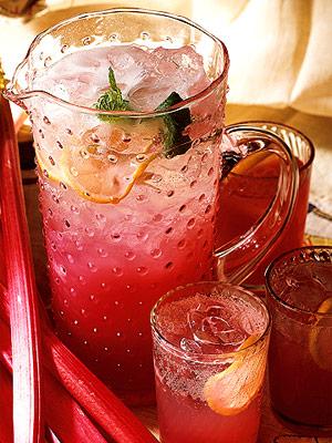 Pink Rhubarb Punch