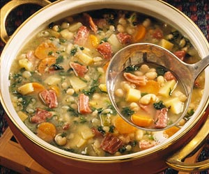 Ham and Bean Soup with Vegetables