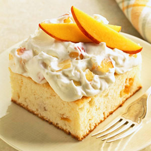 Peaches & Cream Cake