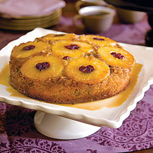 Pineapple-Cranberry Upside-Down Cake