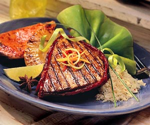 Island Grilled Tuna and Tropical Fruit