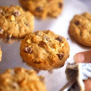 Awesome Chocolate-Peanut Blowout Cookies
