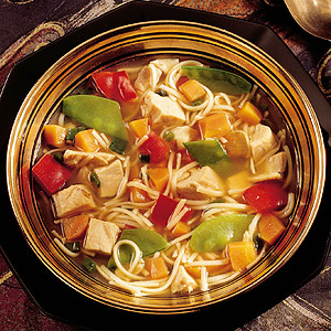 Asian Chicken Soup with Noodles