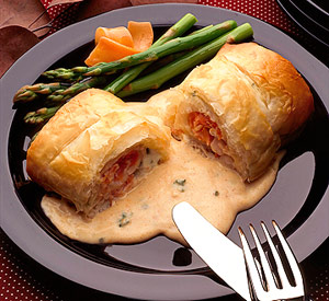 Fillet Rolls in Phyllo