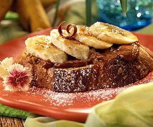 Sweet Banana Bruschetta