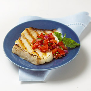 Tuna Steaks with Fresh Tomato Sauce