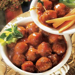 Salsa Party Meatballs