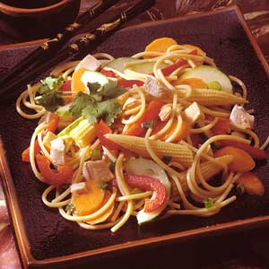 Oriental Chicken Pasta Salad