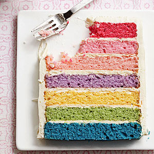 Double Rainbow Happiness Cake