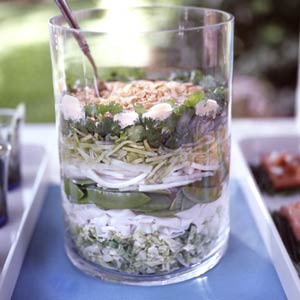 Seven Layer Noodle Salad