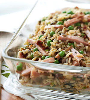 Ham and Pea Wild Rice Salad