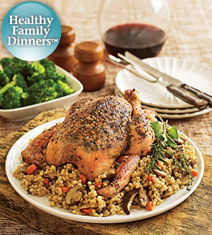 Roast Chicken & Barley Pilaf