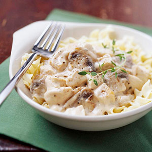 Slow-Cooked Chicken Stroganoff