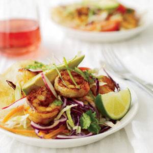 Chipotle Shrimp Tostadas