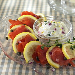 Smoked Salmon with Lemon-Thyme Dipping Sauce