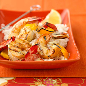 Parmesan Shrimp Skewers