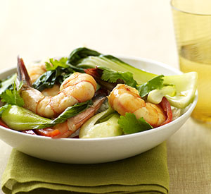 Bok Choy & Shrimp
