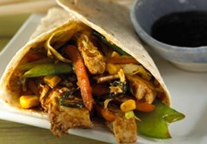 Easy Moo Shu Vegetable Wraps
