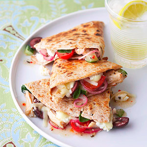 Greek-Style Quesadillas