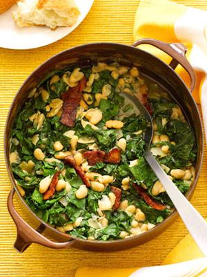 White Bean Stew & Greens