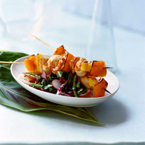 Sesame Chicken Kabob Salad