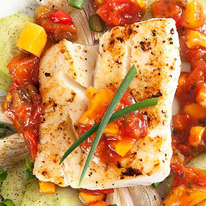Salsa-Baked Fish