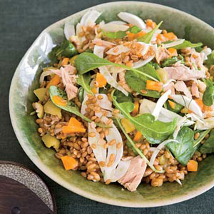 Warm Wheat Berries with Tuna, Fennel, and Olives