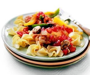 Chicken Braised with Wine and Tomatoes