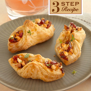 Goat Cheese, Cranberry Chutney and Toasted Walnut Envelopes