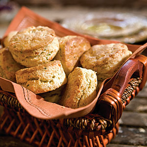 White-Cheddar Herbed Biscuits