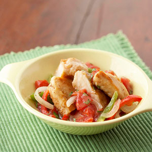Chicken and Pepper Saute