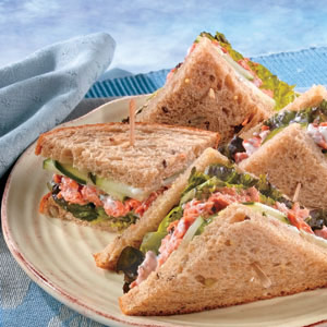 Spring Salmon Salad Sandwiches