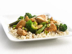"""Healthified"" Cashew Chicken and Broccoli"
