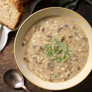 Cream of Mushroom & Barley Soup