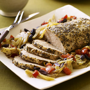 Slow-Cooker Mediterranean Pork Roast