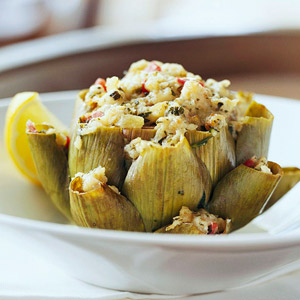 Artichokes Stuffed with Feta Cheese