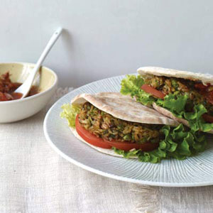 Brown-Rice Veggie Burgers