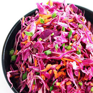 Creamy Red Cabbage Slaw