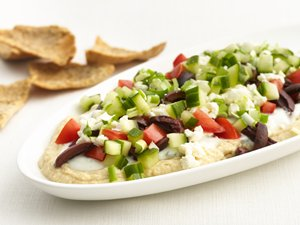 """Healthified"" Greek Layered Dip"