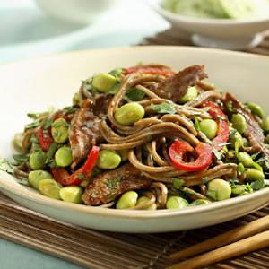 Hoisin Beef & Edamame Noodles