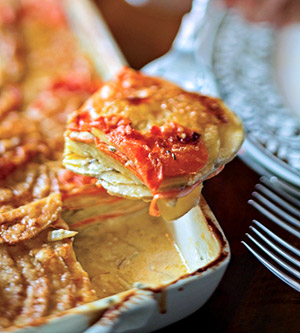 Golden Potato and Carrot Gratin