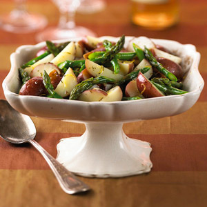 Lemony Asparagus and New Potatoes