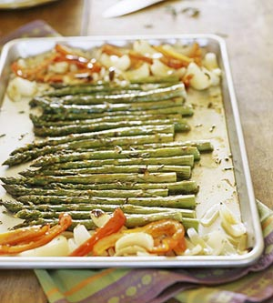 Roasted Asparagus and Other Vegetables