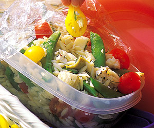 Three-Cheese Orzo Salad