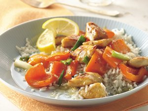 Glazed Lemon Chicken and Rice