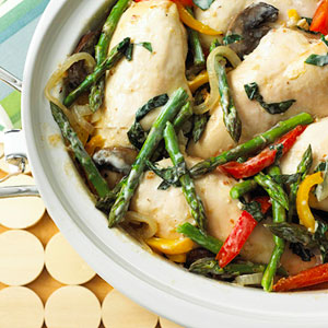 Creamy Basil Chicken and Vegetables