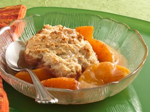 Cinnamon-Peach Cobbler